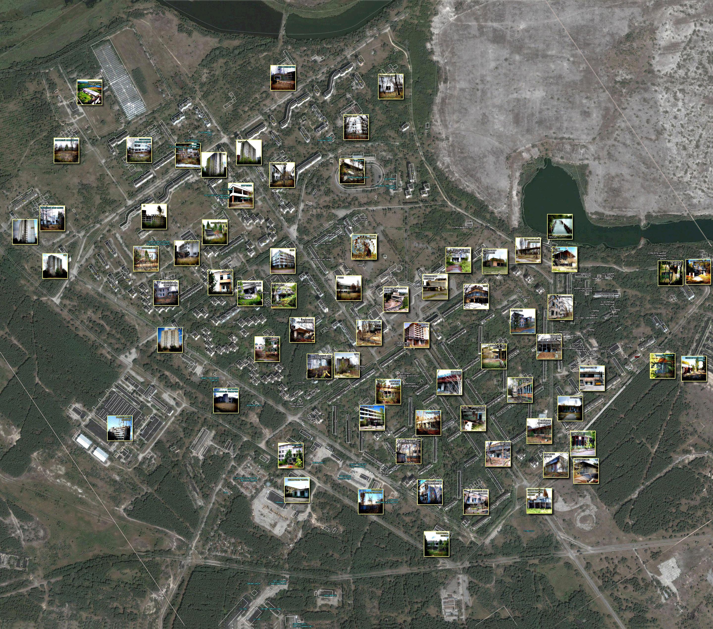 карта города Припять